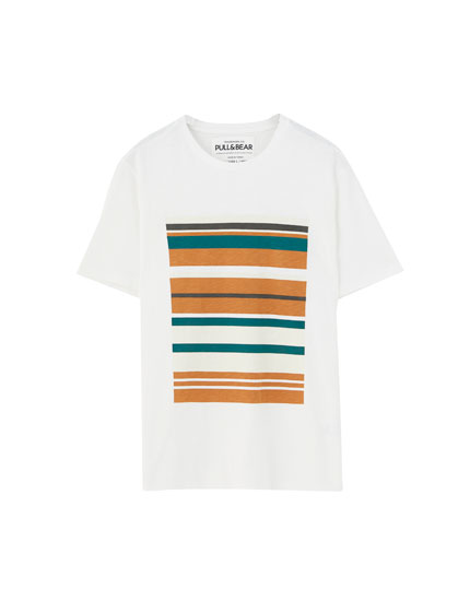 Multi-striped print T-shirt