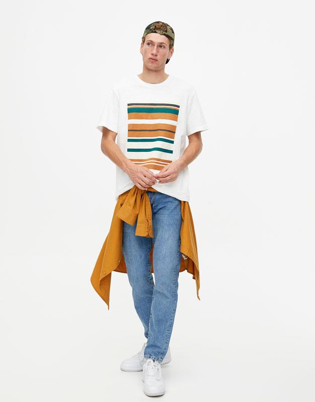 Shirts 2018Pull Winter amp;bear Autumn Men's Printed T UzGLqjMVSp