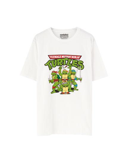 White Ninja Turtles short sleeve T-shirt
