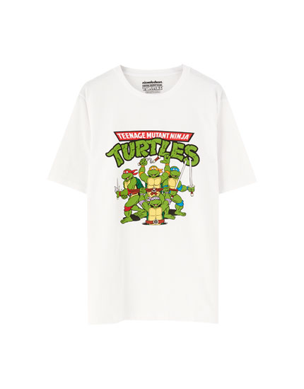 Weißes T-Shirt Ninja Turtles