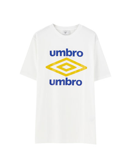 Umbro x Pull&Bear T-shirt with double logo