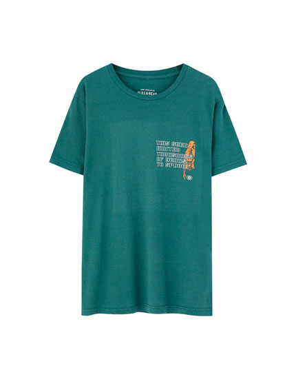 Faded green T-shirt