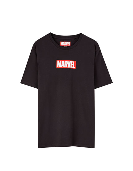 Embroidered Marvel logo T-shirt
