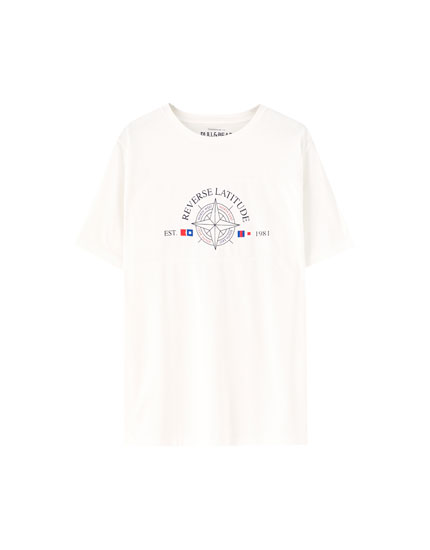 Short sleeve compass T-shirt