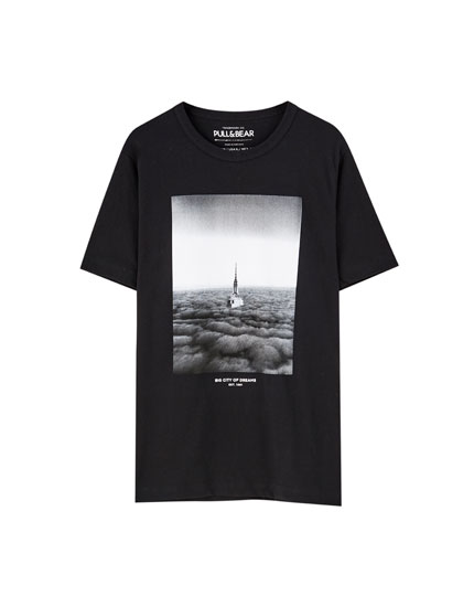 Black 'Never Look Back' T-shirt