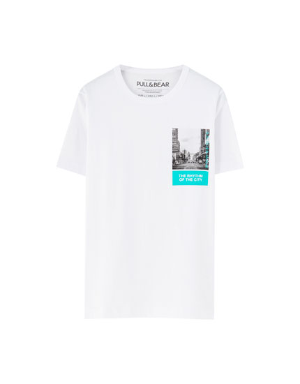 White 'Rhythm of the City' T-shirt