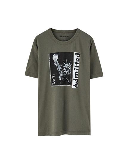 T-shirt inscription Tour' 91