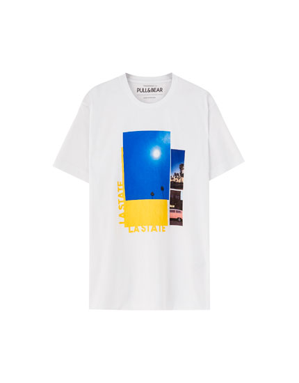 White 'LA State' T-shirt