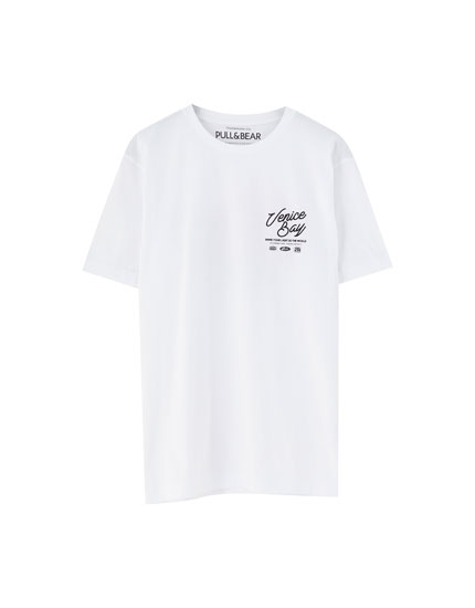 White 'Venice Bay' T-shirt