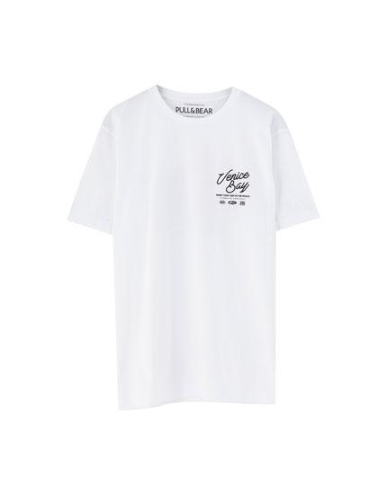 T-shirt Venice Bay blanc