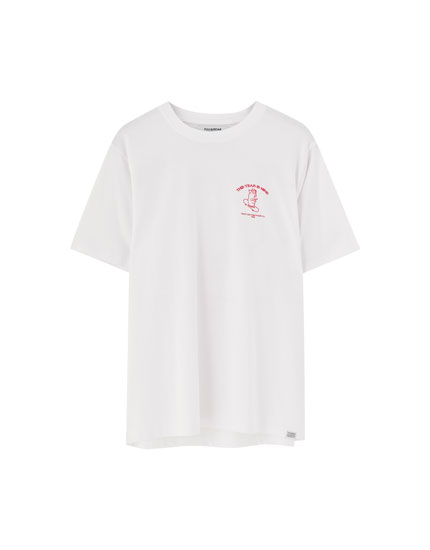 Piggy skater slogan T-shirt