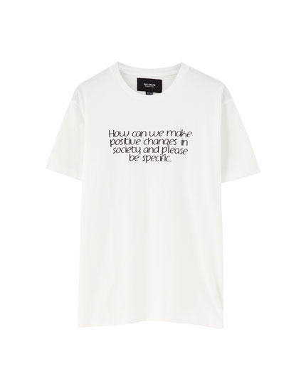 Short sleeve sentence T-shirt