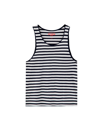 Nautical stripe vest top