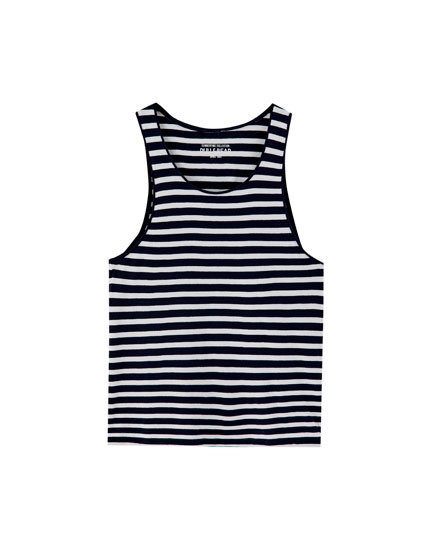 Camiseta tirantes raya marinera