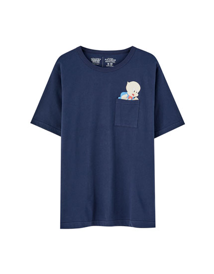 Blue Looney Tunes Porky Pig T-shirt