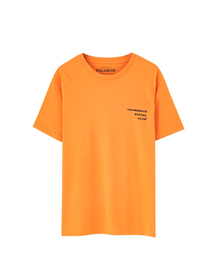 Orange T-shirt with slogans