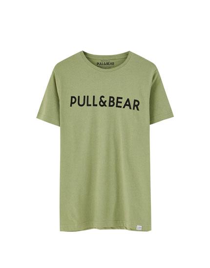 T-shirt logo Pull&Bear couleur