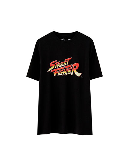 T-shirt Street Fighter logo
