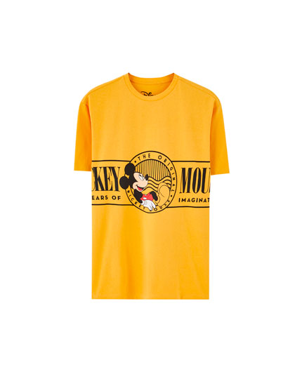 Gelbes Mickey Mouse Shirt