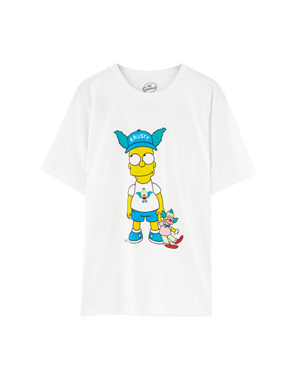 White The Simpsons T-shirt