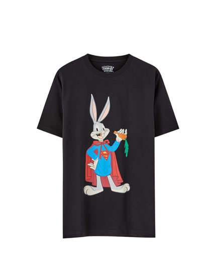 Black Super Bugs Bunny T-shirt