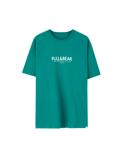 c387b29dc05 T-shirt with Pull Bear logo and cities