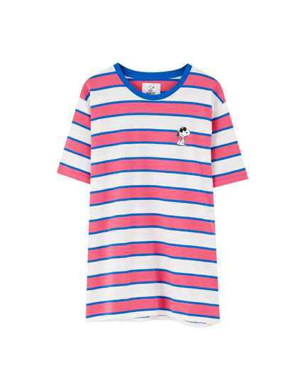Striped Peanuts T-shirt