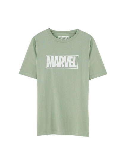 Coloured short sleeve Marvel T-shirt