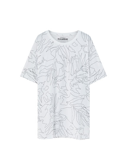 White map print T-shirt