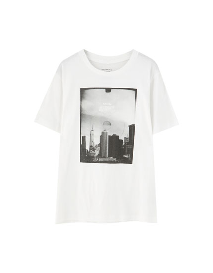 Basic photo print T-shirt