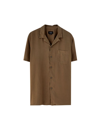 Short sleeve viscose shirt
