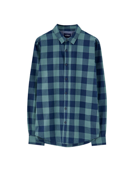 Cotton buffalo check shirt
