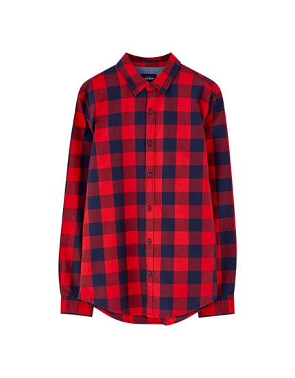 Camisa cuadros búfalo algodón