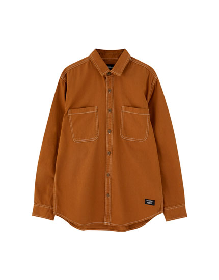 Long sleeve worker shirt