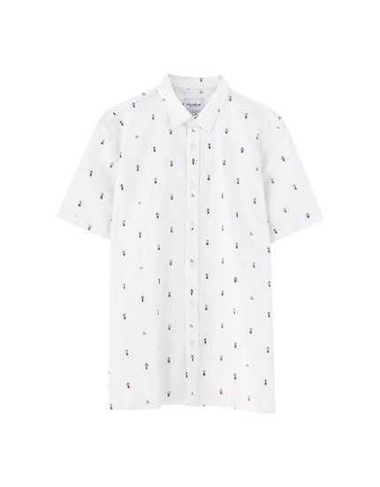 Peanuts Snoopy all-over print shirt