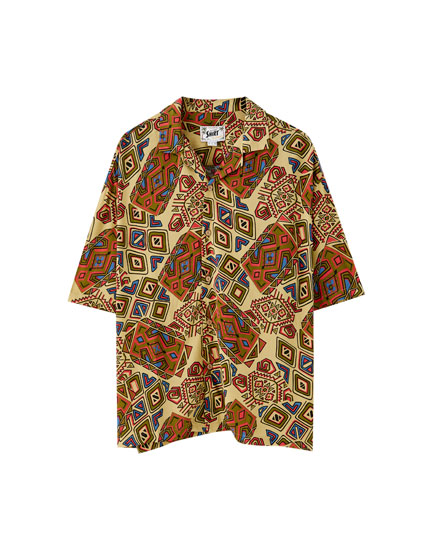 Colourful print shirt