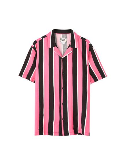 Camisa rayas colores manga corta