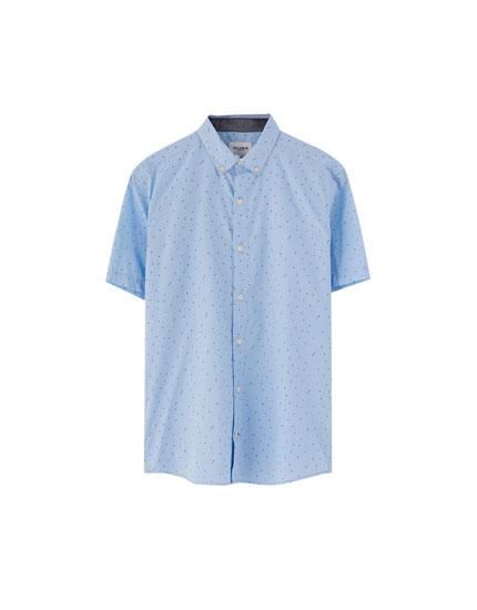 Camisa estampada manga corta