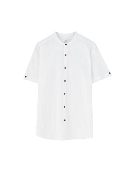 Camisa cuello mao color