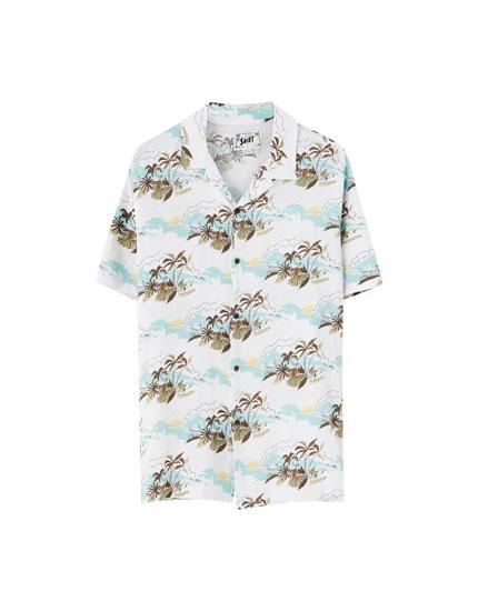 Camisa estampada manga corta colores