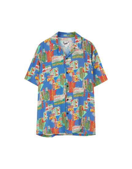 Short sleeve comic shirt