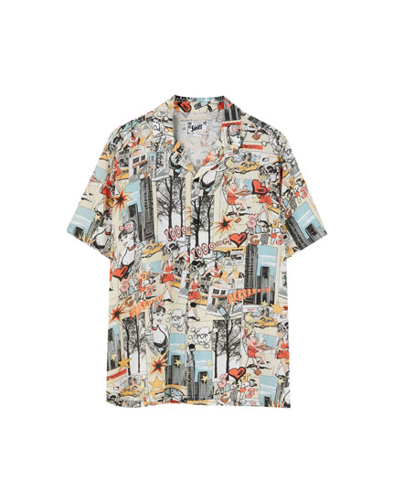 Short sleeve comic shirt