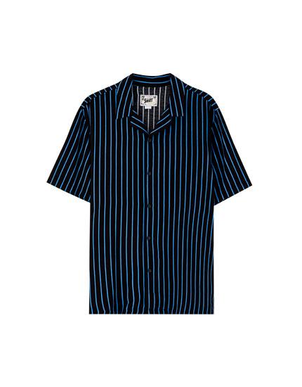 Camisa viscosa rayas bicolor