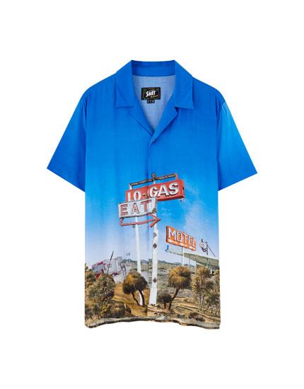 Camisa ciudad manga corta