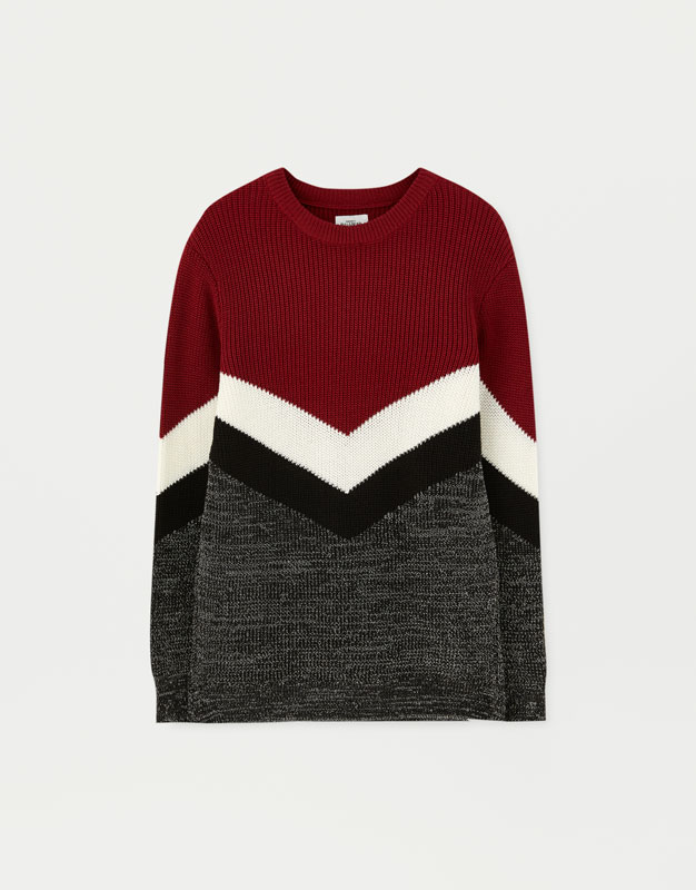 2adac7f9bff Colour block sweater - pull bear