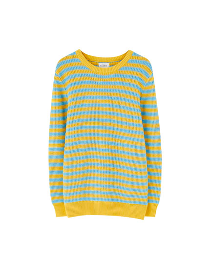 Colourful stripe knit sweater