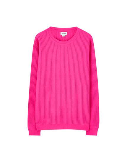 Ribbed neon sweater