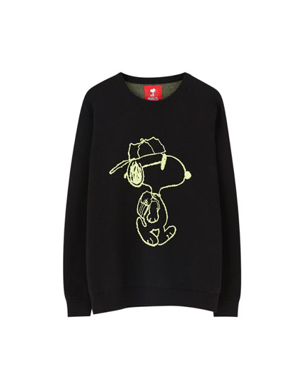 Neon Peanuts Snoopy sweater