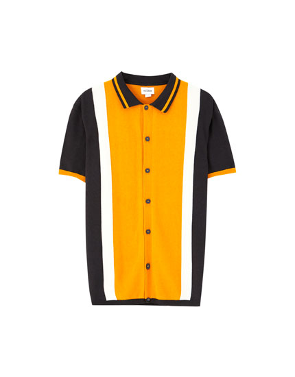 Polo shirt with front buttons