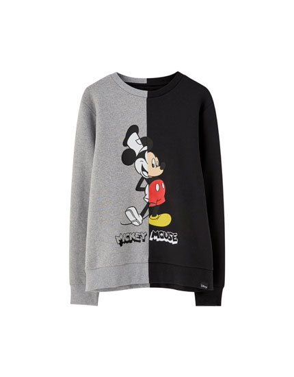 Two-tone Mickey Mouse sweatshirt